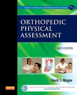 Orthopedic Physical Assessment, by Magee, 6th Edition 6 PKG 9781455709779
