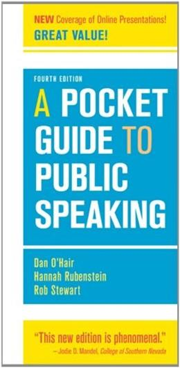 A Pocket Guide to Public Speaking, 4th Edition 9781457601842