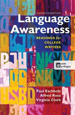 Language Awareness: Readings for College Writers 11 PKG 9781457610783