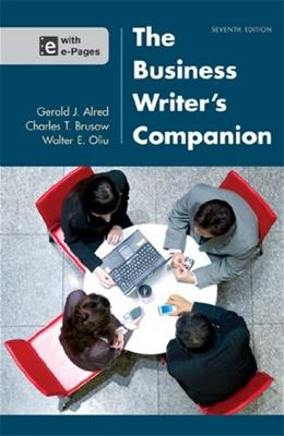 Business Writers Companion 7 9781457632990