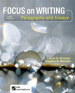 Focus on Writing: Paragraphs and Essays 3 9781457633270