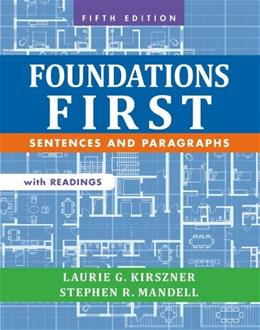 Foundations First with Readings: Sentences and Paragraphs 5 9781457633454
