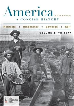America: A Concise History, Volume 1 6 PKG 9781457648656