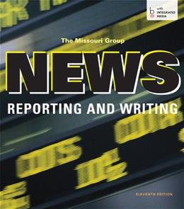 News Reporting and Writing 11 9781457653544
