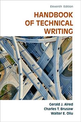 Handbook of Technical Writing, by Alred, 11th Edition 9781457675522