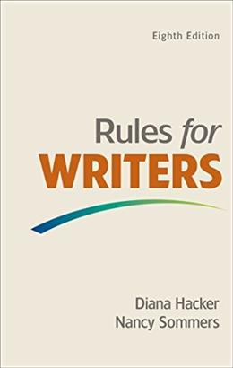 Rules for Writers, by Hacker, 8th Edition 9781457683046