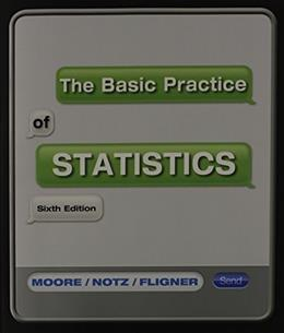 Basic Practice of Statistics, by Moore, 6th Edition 6 w/CD 9781464104343