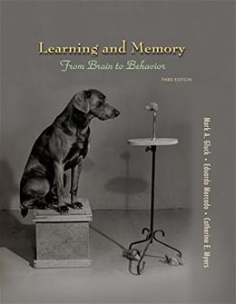 Learning and Memory: From Brain to Behavior 3 9781464105937