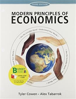 Modern Principles of Economics, by Cowen, 3rd Edition 9781464110177