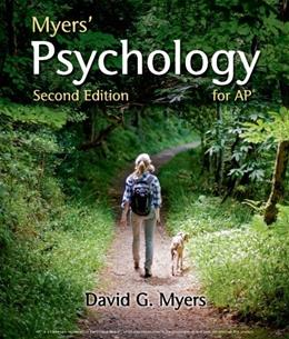 Psychology for AP*, by Myers, 2nd Edition 9781464113079