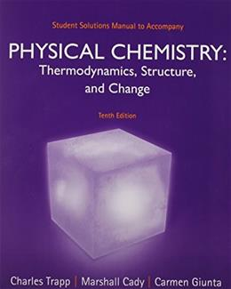 Student Solutions Manual for Physical Chemistry 10 9781464124495