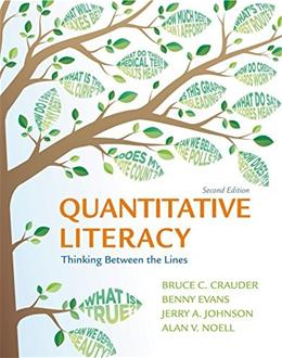 Quantitative Literacy: Thinking Between the Lines 2 9781464125126