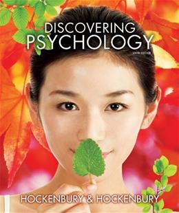 Discovering Psychology, by Hockenbury, 6th Edition, 2 BOOK SET 6 PKG 9781464141089