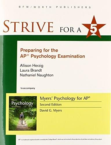 Strive for 5: Preparing for the AP Psychology Examination, by Herzig, 2nd Edition 9781464156052
