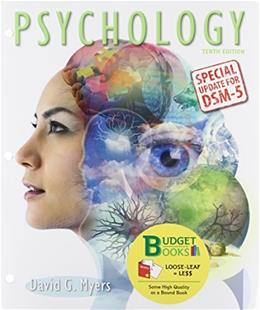 Psychology with DSM5 Update, by Myers, 10th Edition 9781464164811