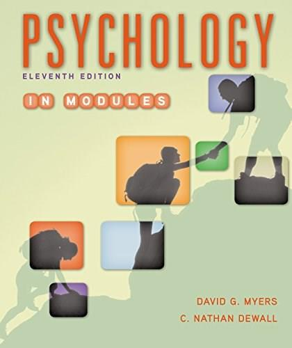Psychology in Modules 11 9781464167522