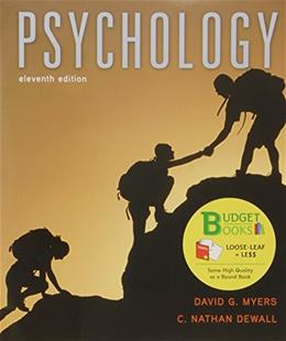 Psychology, by Myers, 11th Edition 9781464170041