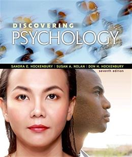 Discovering Psychology, by Hockenbury, 7th Edition 9781464171055