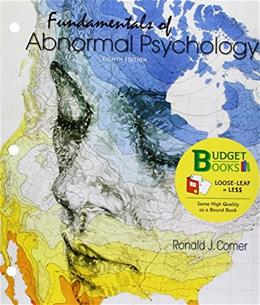 Fundamentals of Abnormal Psychology, by Comer, 8th Edition 9781464177002