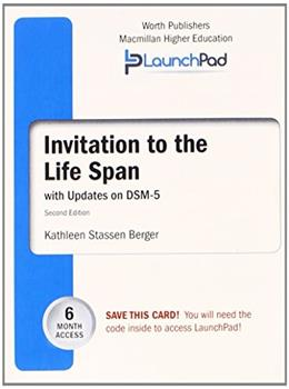 Invitation to the LifeSpan with DSM5 Update, by Berger, 2nd Edition, ACCESS CODE ONLY 2 PKG 9781464177484