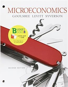 Microeconomics, by Goolsbee, 2nd Edition 9781464189104