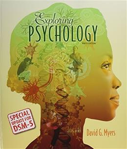Exploring Psychology with DSM5 Update & LaunchPad 6 Month Access Card 9 PKG 9781464189494