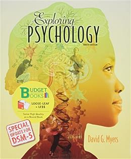 Exploring Psychology (Loose Leaf) with DSM5 Udpate & LaunchPad 6 Month Access Card 9 PKG 9781464189562