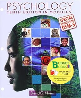 Psychology in Modules with DSM5 Update, by Myers, 10th Edition 10 PKG 9781464189586