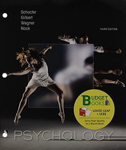 Psychology, by Schacter, 3rd Edition Looseleaf 3 PKG 9781464194511
