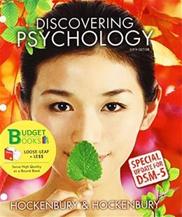 Loose-leaf Version for Discovering Psychology with DSM5 Update & LaunchPad 6 month access card Sixth Edit 9781464198502