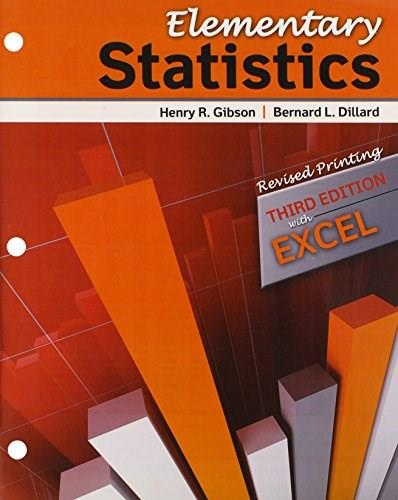 Elementary Statistics, by Gibson, 3rd Edition 9781465210272