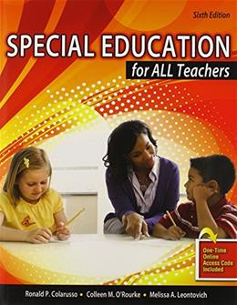 Special Education for All Teachers 6 9781465215291
