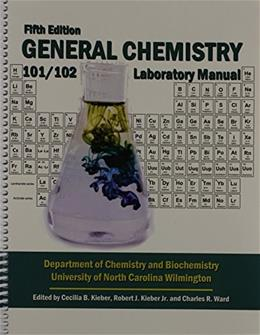 General Chemistry, by Kendall Hunt Publishing, 5th Edition, Lab Manual 9781465250964