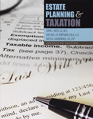 Estate Planning and Taxation 16th 9781465270580