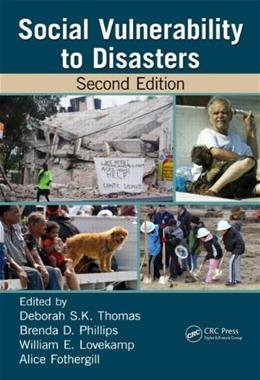 Social Vulnerability to Disasters, by Thomas, 2nd Edition 9781466516373