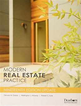 Modern Real Estate Practice, by Galaty, 19th Edition, Update 9781475438529
