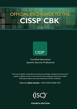 Official (ISC)2 Guide to the CISSP CBK, by Gordon, 4th Edition 9781482262759