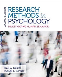 Research Methods in Psychology: Investigating Human Behavior 2 9781483343761