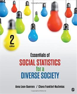 Essentials of Social Statistics for a Diverse Society 2 9781483359496