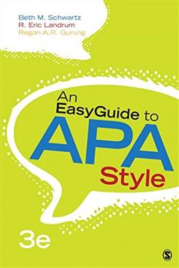 An EasyGuide to APA Style (EasyGuide Series) 3 9781483383231