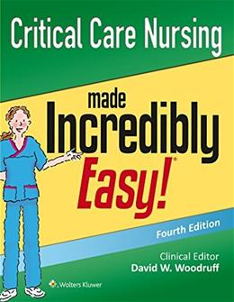 Critical Care Nursing Made Incredibly Easy!, by Lippincott, 4th Edition 9781496306937