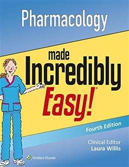 Nursing Pharmacology Made Incredibly Easy 4 Pap/Psc 9781496326324