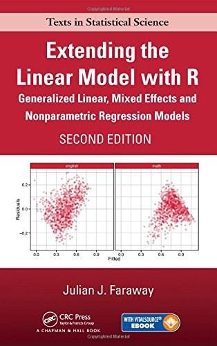Extending the Linear Model with R: Generalized Linear, Mixed Effects and Nonparametric Regression Models, by Faraway, 2nd Edition 2 PKG 9781498720960