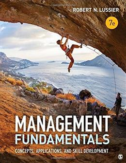 Management Fundamentals: Concepts, Applications, and Skill Development, by Luissier, 7th Edition 9781506303277