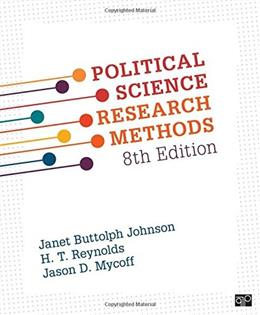 Political Science Research Methods, by Johnson, 8th Edition 9781506307824