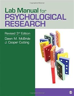 Psychological Research, by McBride, 3rd Edition, Lab Manual 9781506311340
