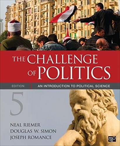 Challenge of Politics: An Introduction to Political Science, by Riemer, 5th Edition 9781506323473