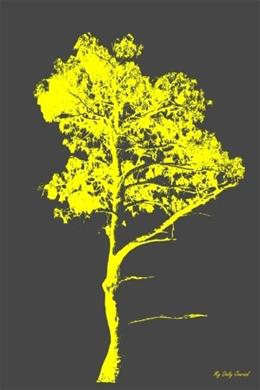 My Daily Journal: Yellow Grunge Tree, Lined Journal, 6 x 9, 200 Pages 9781519424396
