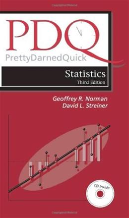 Pdq Statistics, by Norman, 3rd Edition 3 w/CD 9781550092073