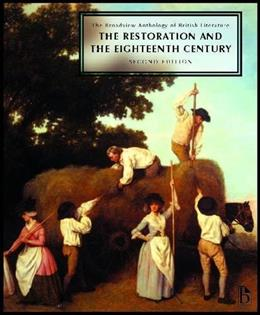 Broadview Anthology of British Literature, by Black, 2nd Edition, Volume 3: The Restoration and the 18th Century 9781554810475